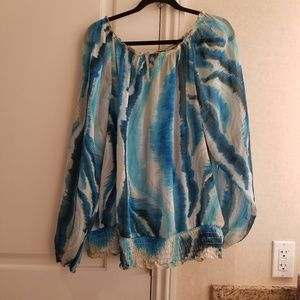 Lane bryant sheer boho beach inspired blouse 22/24
